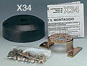 Накладка под редуктор Х34