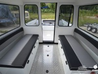 Рундуки с мягкими накладками катера North Silver PRO 745 cabin