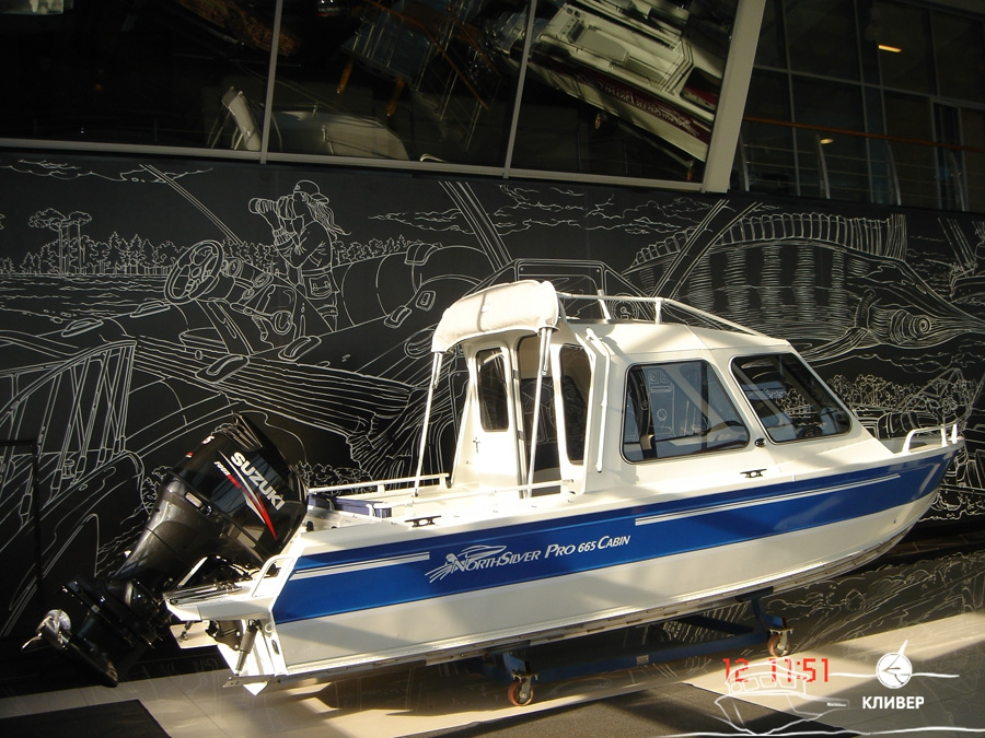 Катер North Silver Pro 665 Cabin - вид сбоку