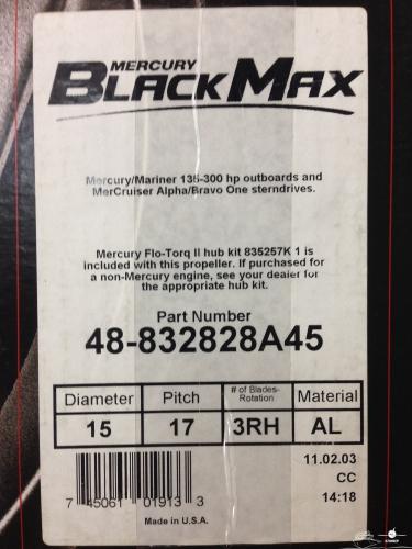 Грибной винт Mercury Black Max
