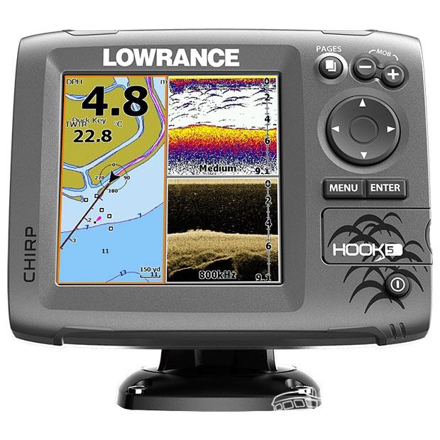 Эхолот-навигатор-навигатор Lowrance HOOK-5 Mid/High/DownScan
