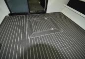 Укладка палубы тиковыми материалами и покрытием flexiteek, isiteek